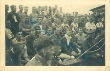 WW2 British Prisoner's Of War POW's Ringside Boxing Match Stalag XXI D Poland