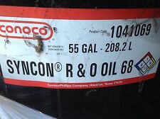 Conoco Syncon R&O oil 68 55 Gallon Drum Rotary Air Compressor Oil