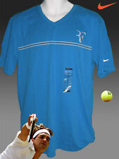 New NIKE TENNIS Federer Cotton Tee Shirt Turquoise Medium