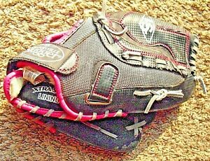 """Louisville Slugger Ladies Softball Glove Pink Diva Series. 10.5"""" RHT Fits Left"""