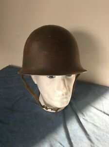 French Indochina Mle-51 M51 MAMOU Helmet Shell AG Liner  1953/1954 Ref# 34