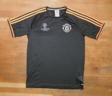 Adidas MANCHESTER UNITED Black UEFA CHAMPIONS SOCCER JERSEY Football Shirt SMALL