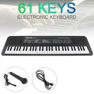 61 Keys Digital Piano Keyboard Electronic Electric Keyboards & Microphone Gifts