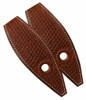 Showman Basket Tooled Medium Oil Slobber Straps Protect your Show Bridle Reins!
