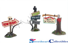 Department 56 Halloween Village Haunted Signs, Set of 3-2012