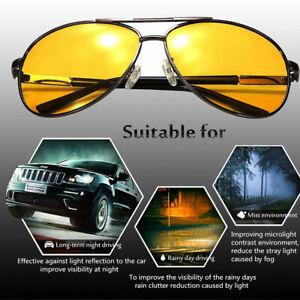 Day & Night Vision Driving Glasses Anti Glare Polarized UV400 Sunglasses Eyewear