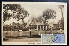 1916 Medan Netherlands Indies RPPC Postcard Cover To Garfield NJ USA Main House