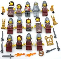 LEGO 14 NEW CASTLE MINIFIGURES LION KNIGHT KINGDOMS MEN WITH WEAPONS AND MORE