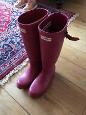 hunter Ladies wellies size 3 UK bright pink RRP £100