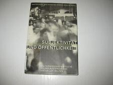 Subjektivität und Öffentlichkeit von Mike Sandbothe, Winfried Marotzki