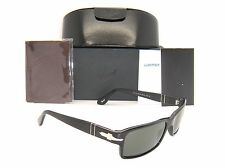New & Authentic Persol Black Frame Green Polarized Lens PO 2747-S 95/48 57mm