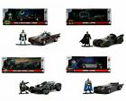 Jada 1:32 Batmobile Hollywood Rides with Batman Figure Collection of 4pcs NIB