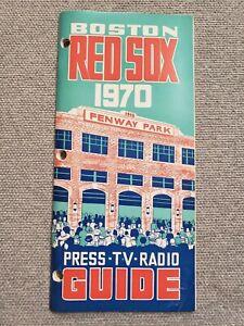 1970 Boston Red Sox MEDIA GUIDE  Press Book Program