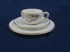 Coalport Tulip Tree Bird Floral Bone China Mini 3 Piece Coffee Cup Saucer Plate
