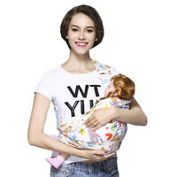 Newborn Baby Sling Carrier Ring Wrap Breathable Soft Nursing Pouch Front Infant-