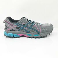 Asics Womens Gel Kahana 8 T6L5N Gray Blue Running Shoes Lace Up Low Top Size 7.5