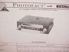 1975 CRAIG 8-TRACK STEREO TAPE PLAYER/AM-FM/MPLX RADIO SERVICE MANUAL MODEL 3148