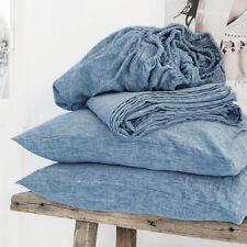 Linen Sheet Set,100% French Linen Bedding Set Queen King Double Deep Pocket