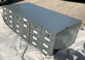 LYON metal 24 drawer cabinet hardware industrial parts tools CLEAN Made in USA