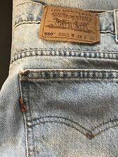 VINTAGE Levi's Jeans 550 ORANGE TAB Relaxed fit 38 32 MADE IN USA