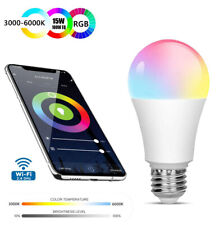 Wifi Smart LED light Bulb 15W(100W) A19 1400LM RGBW Dimmable for Google Home