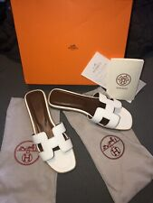 Hermes Oran Sandals- size 41 (US size 10) Flats. White. Offers accepted.