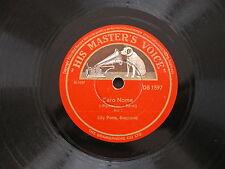 78 rpm TUTTE LE FESTE - CARO NOME - RIGOLETTO GIUSEPPE VERDI LILY PONS - DB 1597