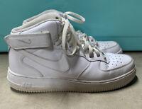NIKE AIR FORCE 1 MID '07 Triple White Shoe Sneaker 315123-111 Men's Size 10.5