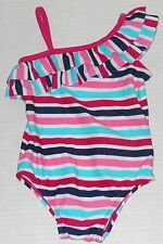 BABY GAP Girl's Striped One Piece Swimsuit UPF 40+ Size 2 Years