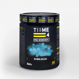 Time 4 pre workout 600g. 40 supercharged servings strong muscle pump