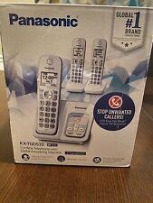 Panasonic Cordless Phone 3 Handsets with Digital Answering Machine New Open Box