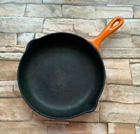Le Creuset Cast Iron Frying Pan Volcanic Orange Enamel 23 cm