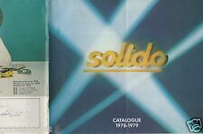 CATALOGUE SOLIDO 1978-1979 COMPETITION TOURISME TONERGAM MILITAIRE AGE D'OR h