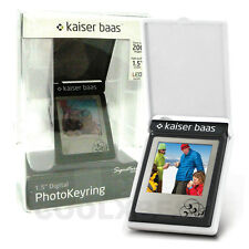 NEW KAISER BAAS WHITE SIGNATURE LED LCD DIGITAL PHOTO FRAME KEYRING GR GIFT
