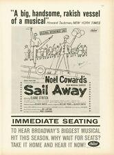 "1961 Capitol Records Noel Coward's ""Sail Away"" Musical Print Ad"
