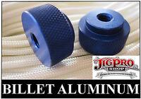 (2) 1/4-20 Paracord Jig Billet Aluminum Knurled Thumb Screws ~ Locking Nuts