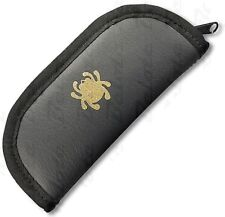 "Spyderco Small Folding Knife Zippered Padded Travel Case 2.25"" x 5.5"" C18C NEW"