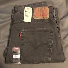Levi's 510 33X34 Skinny Jeans Dark Grey Noise Addict New $69.50