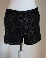 Vero Moda in Blue Chic Party Glittered Metallic Hot Pants Shorts UK 8-10