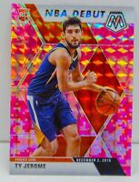 Ty Jerome RC 2019-20 CAMO PINK MOSAIC PRIZM NBA Debut Rookie Card #273 Suns SP