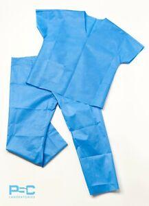 NHS polypropylene 45gsm single use Hospital Scrub Doctor Nursing Scrubs 2 Piece