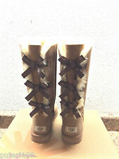 UGG TALL BAILEY BOW TRIPLE TRIPLET CHESTNUT WOMEN USA 6 / EU 37 / UK 4.5