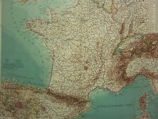 1907 DATED MAP ~ FRANCE WITH DEPARTMENTS PARIS ENVIRONS CITY PLAN NORMANDY