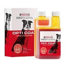 OROPHARMA 250ml OPTICOAT Olio SALMONE Betacarotene OMEGA3 Pelle Pelo Lucido CANE