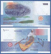 Comoros 1000 Francs P 16 2005 (2012) UNC  Low Shipping! Combine FREE! Comores