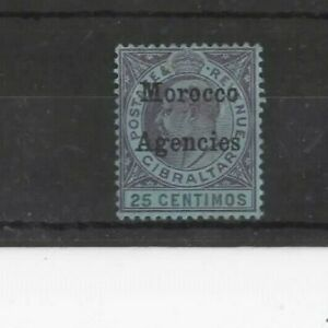 MOROCCO AGENCIES , 1903, SG20 25c PURPLE AND BLACK/BLUE, MH    CV £9.00+