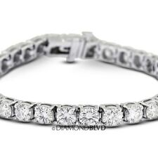 3 CTW G/SI2/Exc Round Earth Mined Diamonds 14k Gold Basket Tennis Bracelet 5.8gr