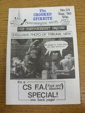 Sep-1990 Chesterfield: The Crooked Spireite  No.23 - Independent Football Magazi