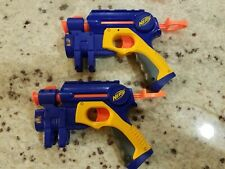 Lot of 2 NERF Action Pull Back Pistol Dart Guns with Laser Sight - Tested!!!