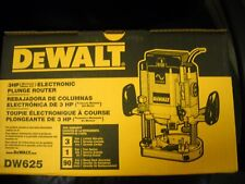 DeWalt DW625 Heavy-Duty 3 HP EVS Plunge Router NEW